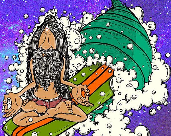 Stampe su plexiglass: le illustrazioni sul surf di Mark Iomal