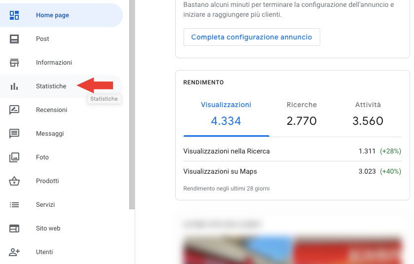 Google my business per vendere