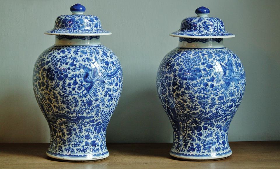 vasi cinesi ming blu e bianco
