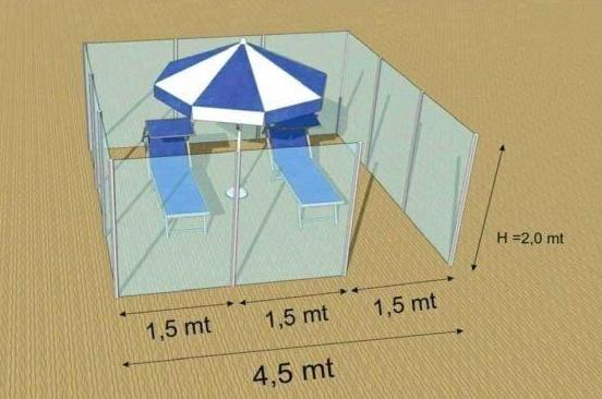Un estate al Covid-19: box in plexiglass sulla spiaggia