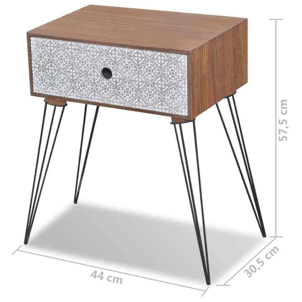 comodino moderno in legno misure