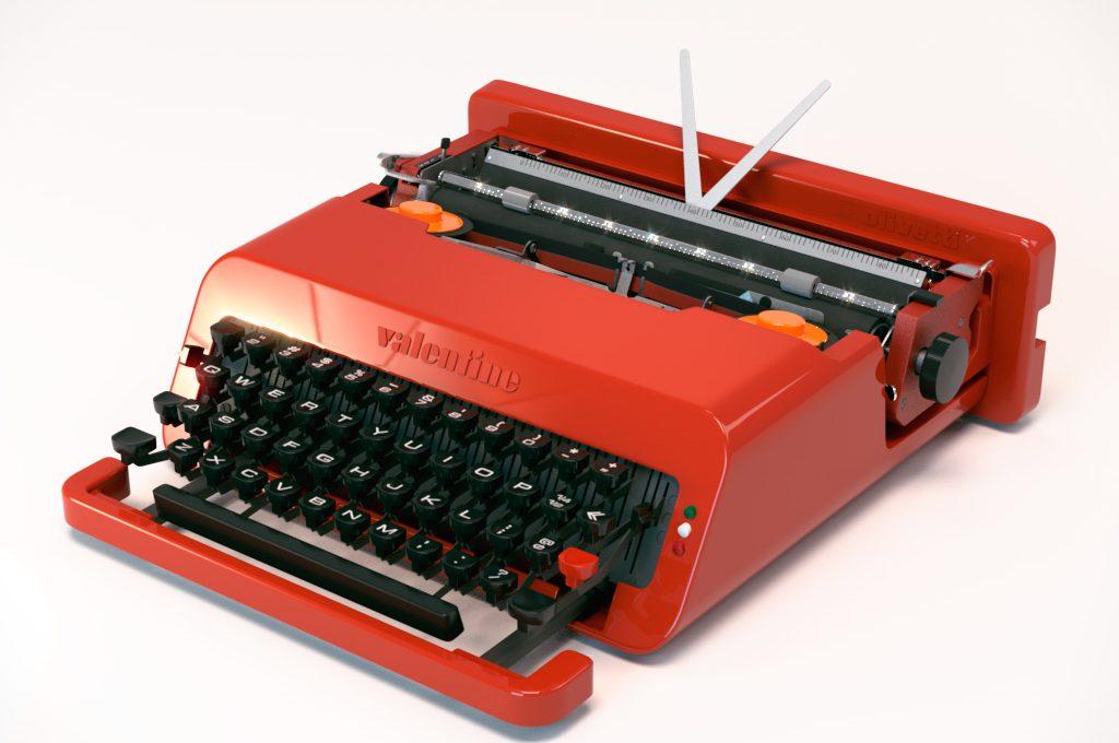 macchina da scrivere valentine