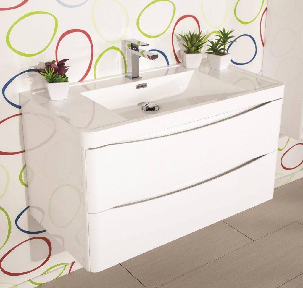 mobiletto arredo bagno bianco