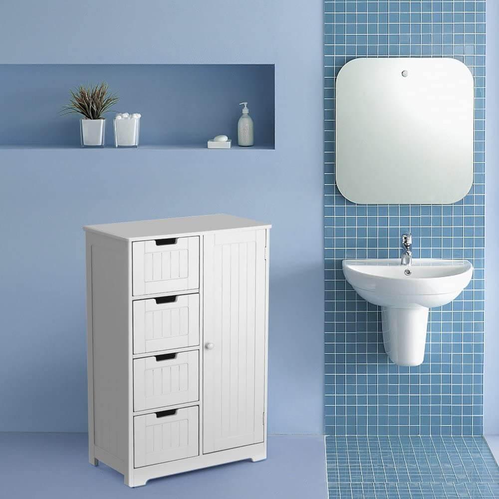 mobiletto bagno legno bianco