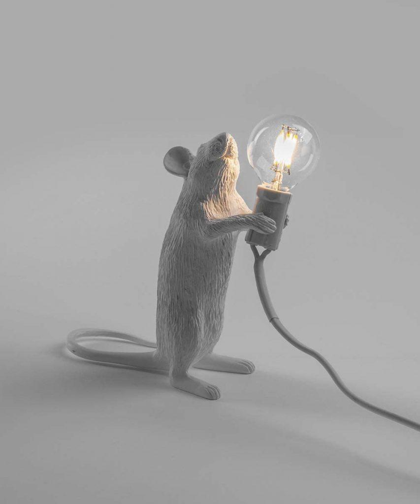lampada topo seletti bianca
