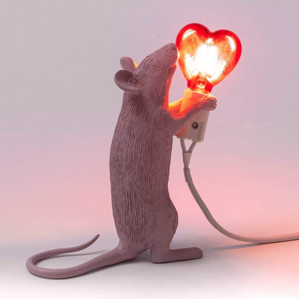 lampada topo seletti san valentino luce