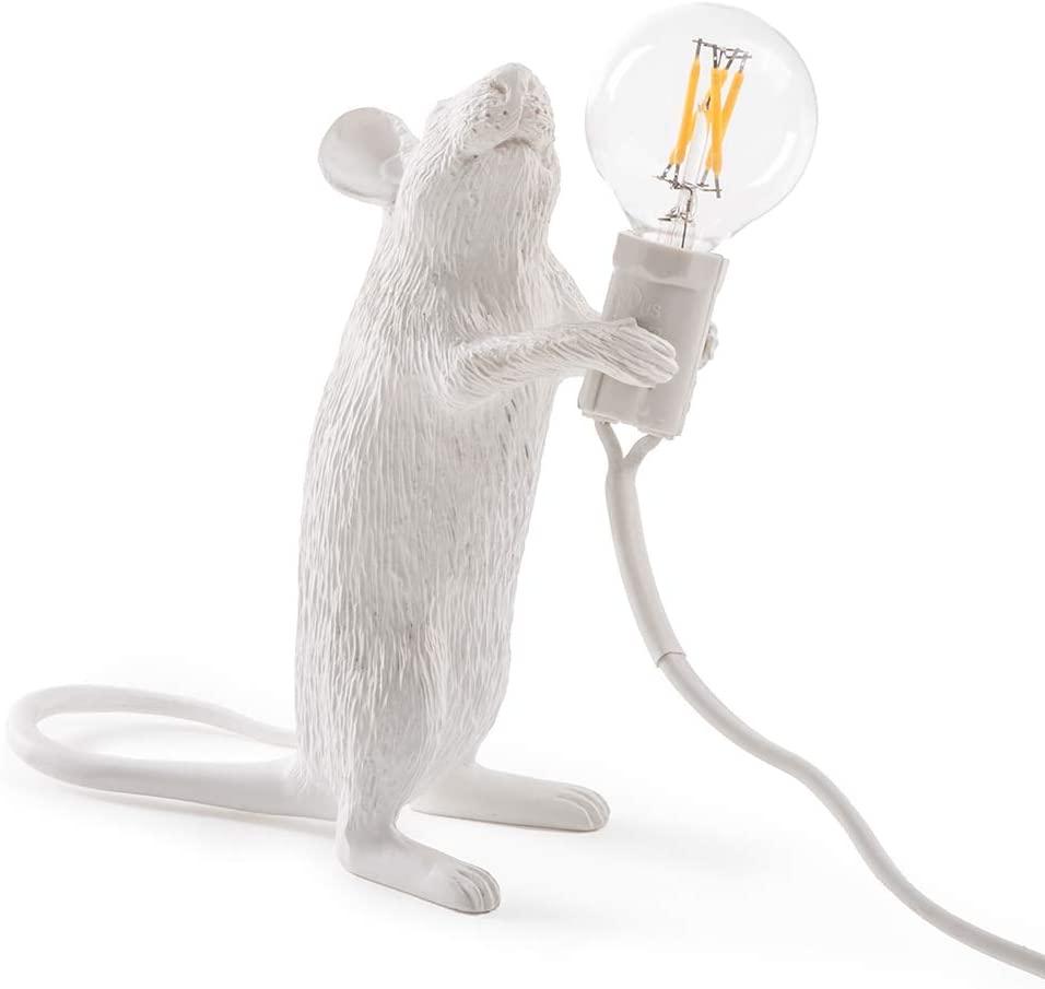 lampada topo seletti standing bianca