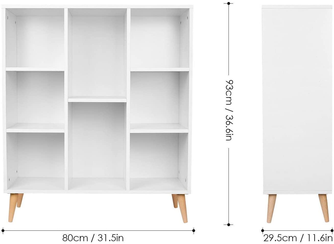 libreria moderna bianca design