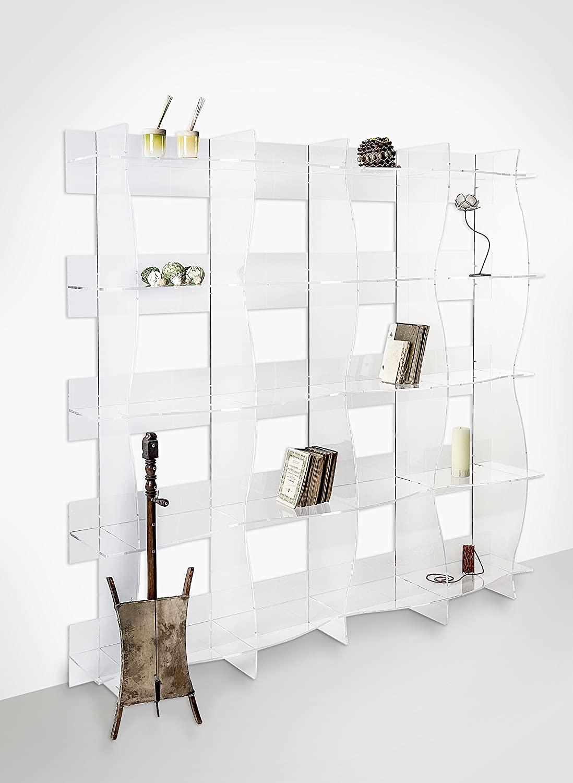 libreria plexiglass trasparente