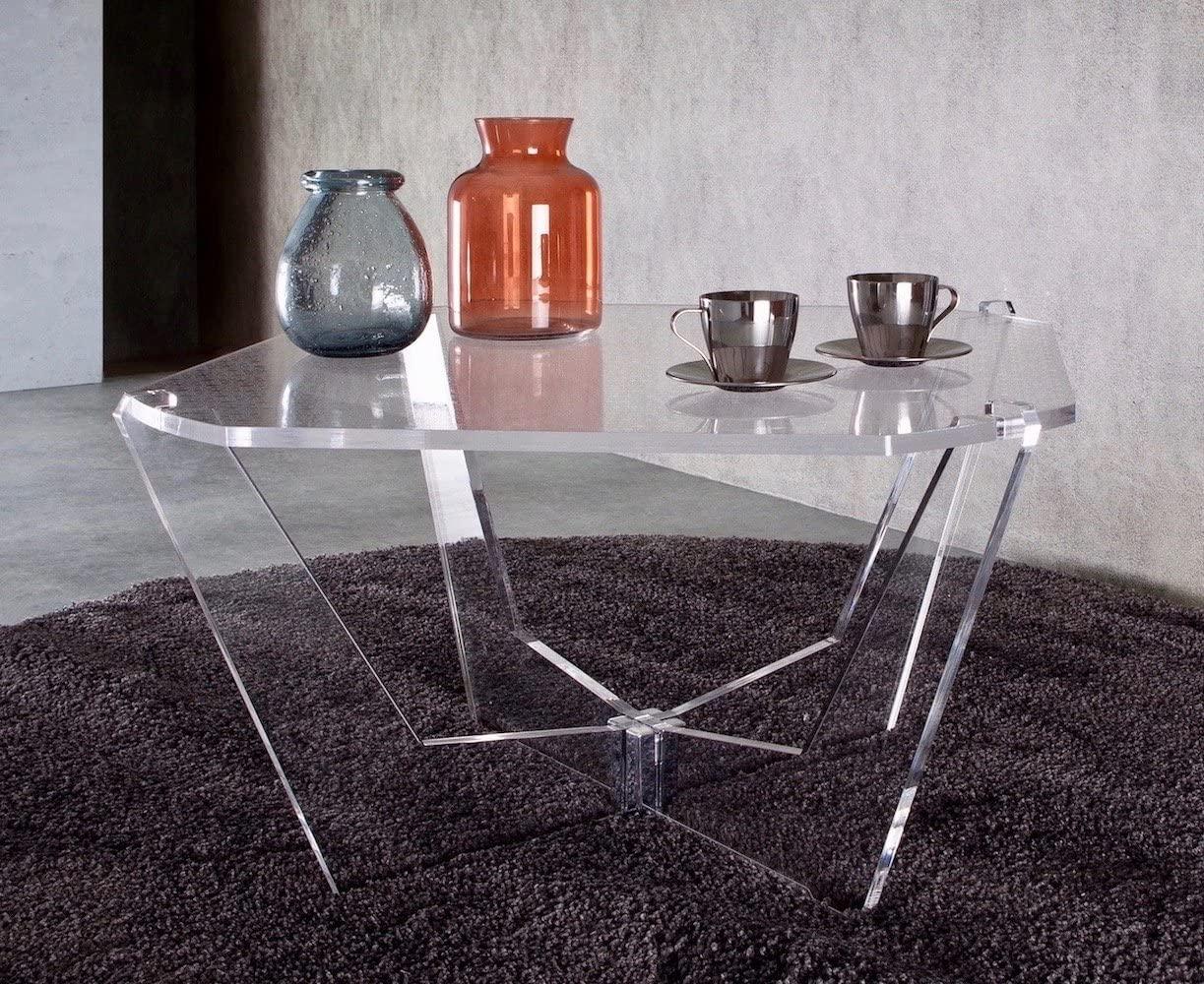 tavolino plexiglass moderno trasparente