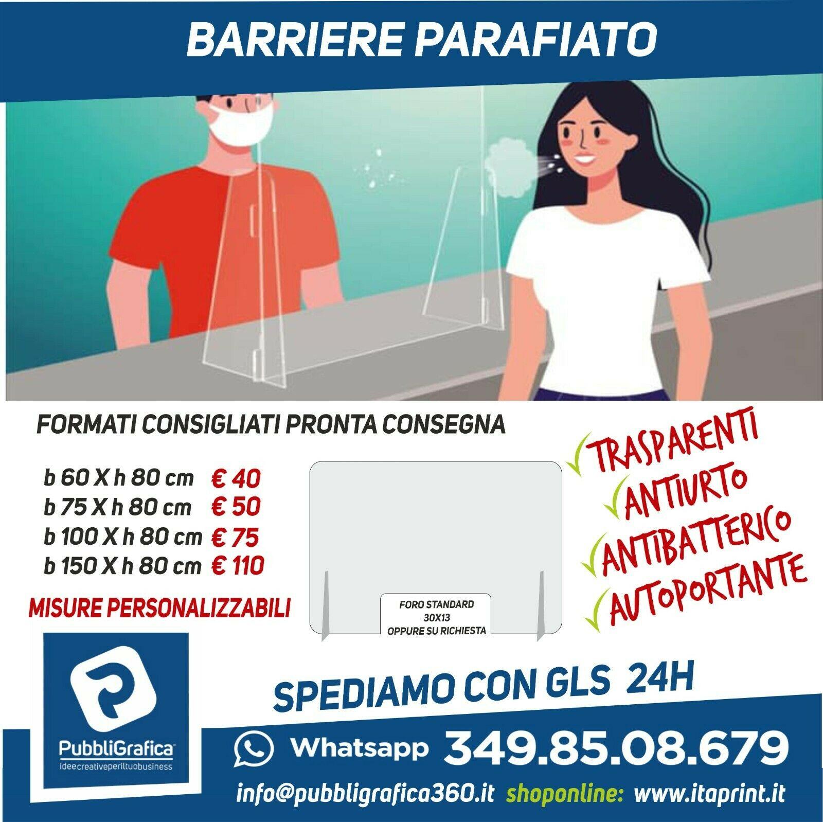 Pannelli Parafiato Protezione Coronavirus [eBay]
