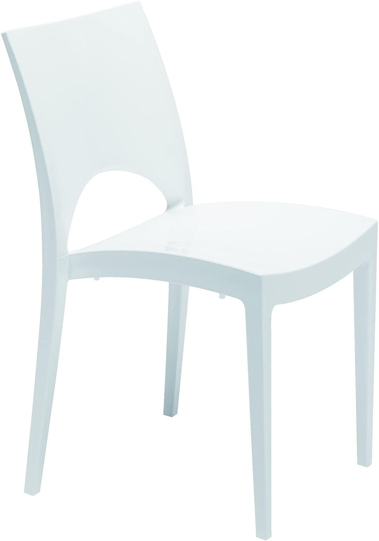 Sedia da pranzo bianca