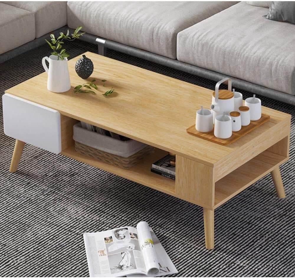 Tavolino da fumo in legno